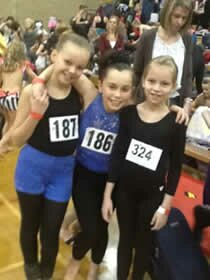 dancers at their first dance competition in Clacton Essex