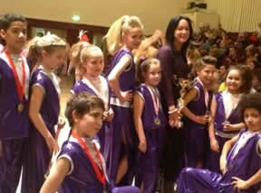Some of our dancers pose for a photo during the danc ecompetition at grays Essex