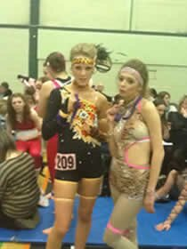 waiting to dance at the competition in Southend Essex