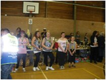 A dance competition in Sudbury Suffolk